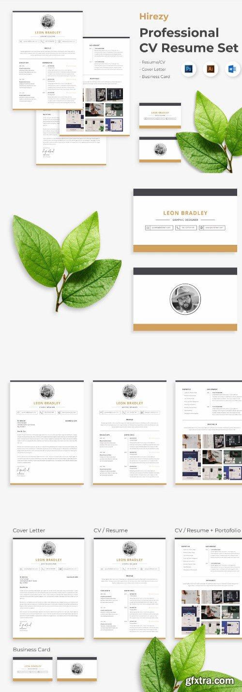Hirezy - Professional Business Clean Resume CV Set