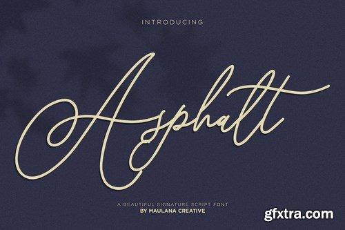CM - Asphalt Signature Font 4104042