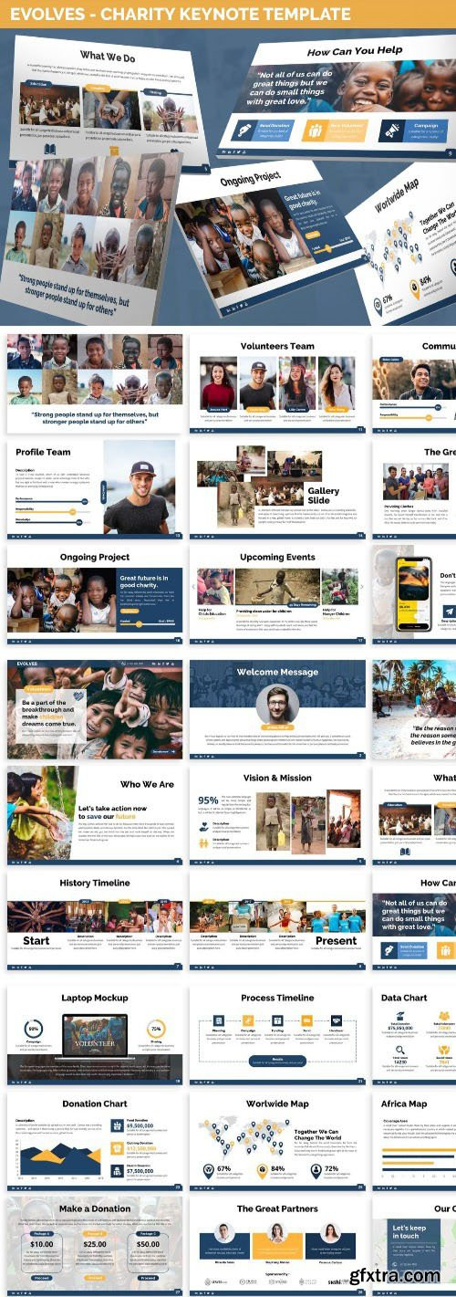 Evolves - Charity Keynote Template