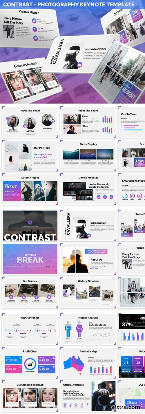 Contrast - Photography Keynote Template