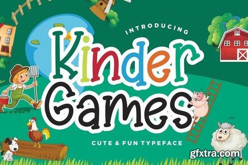 Kinder Games Cute & Fun Typeface