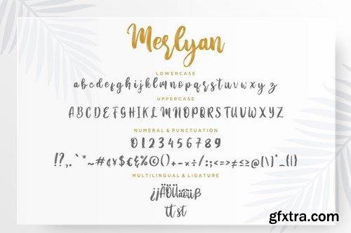 Merlyan Brush Calligraphy Font