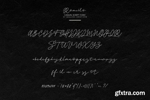 Romello Brush Signature Font