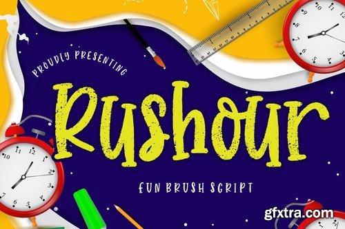Rushour Fun Brush Script