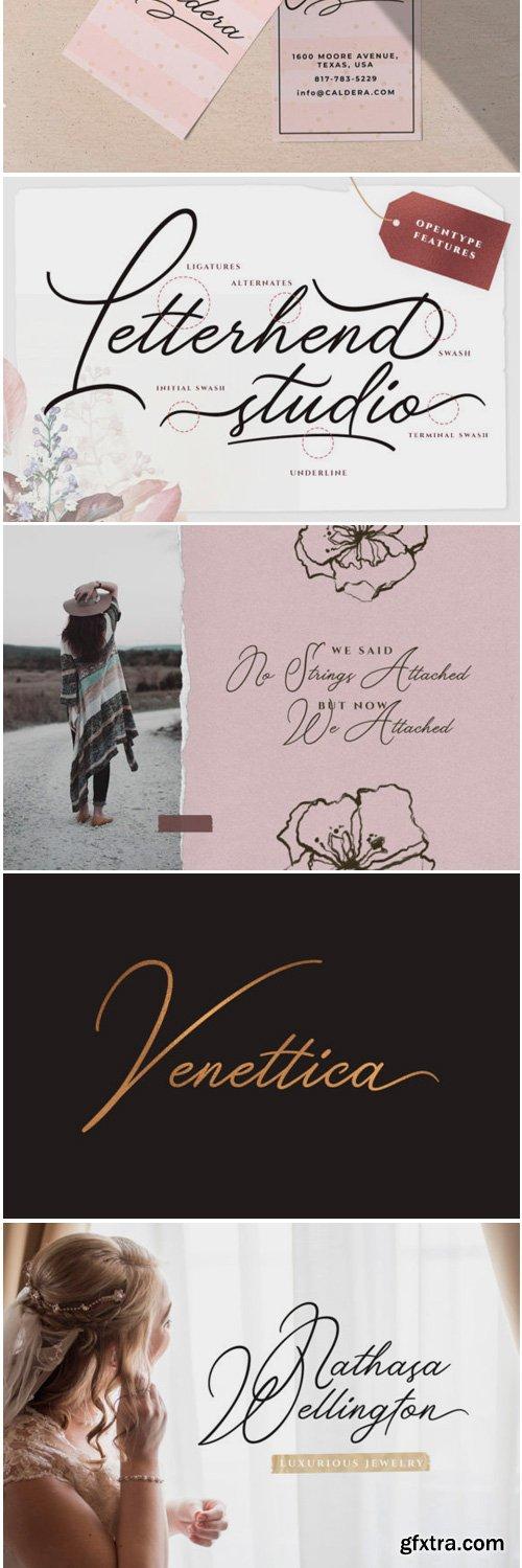 Venettica Signature Romantic Script Font