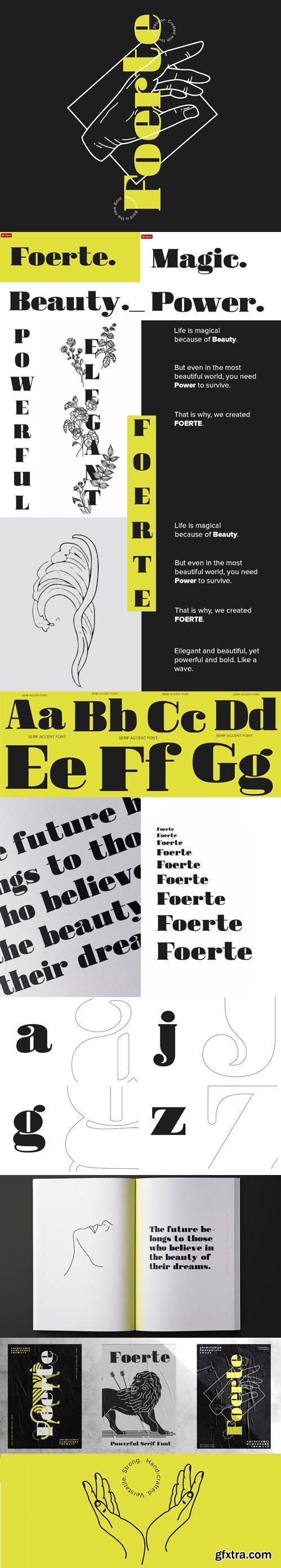 FOERTE - Serif Accent Font