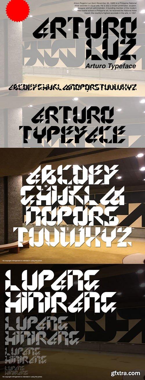 Arturo Typeface - Display Font