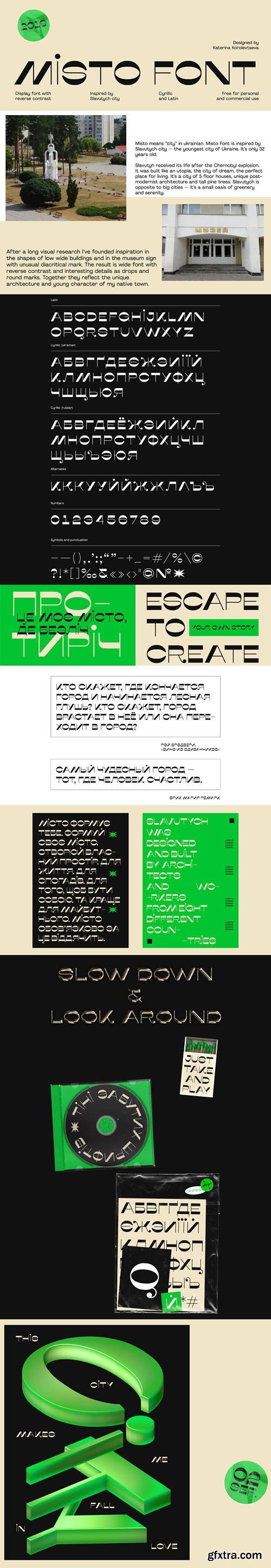 Misto - Cyrillic & Latin Sans Serif Font