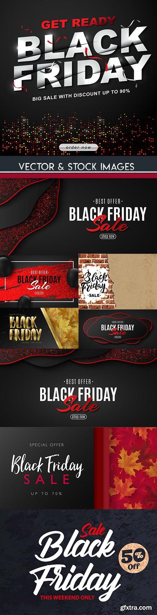 Black Friday and sale special design illustration 18