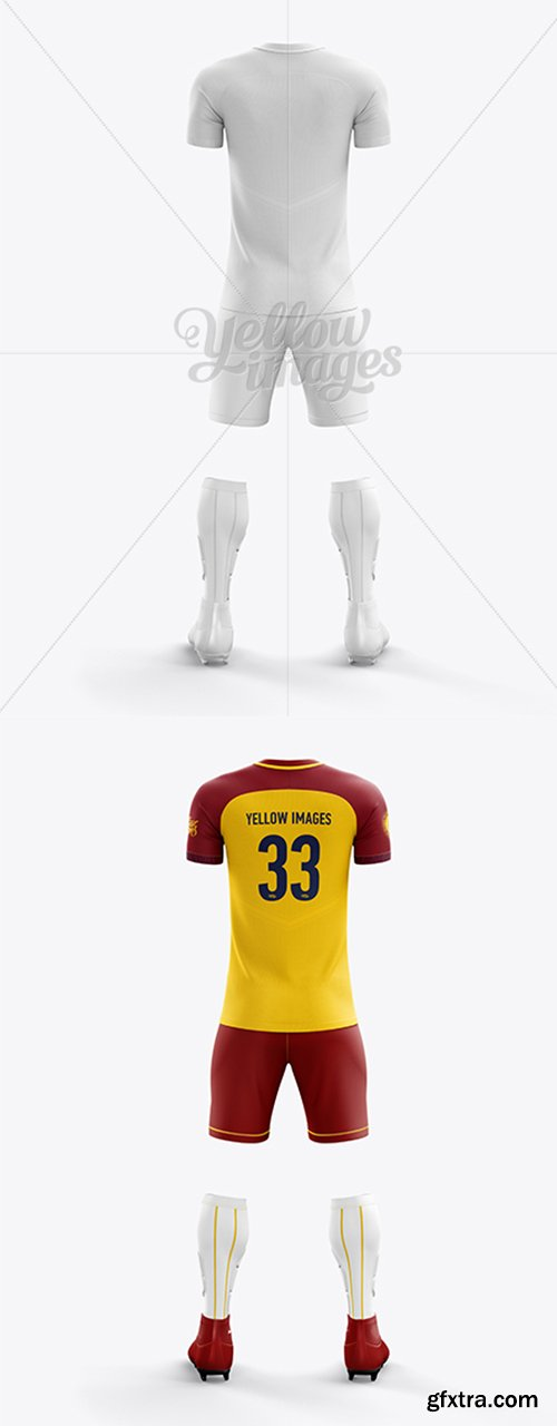 Men's Full Soccer Team Kit mockup (Back View) 17130