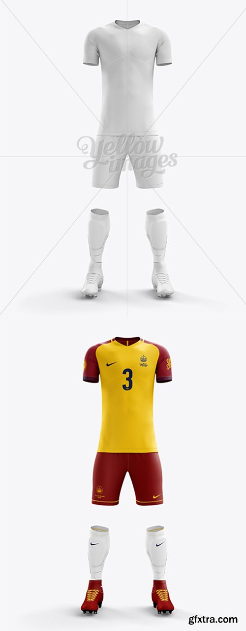 Men's Full Soccer Team Kit mockup (Front View) 17122