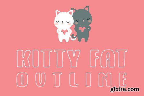 CM - Kitty Fat - Outline 4108105