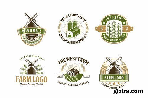 Set of Farm and Barn Logo Badge