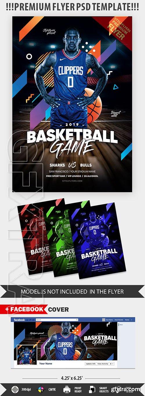 Basketball PSD Flyer Template