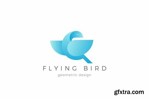 Flying Bird Logo Dove Eagle abstract