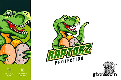 Raptorz Data Protection Logo Illustration Vector