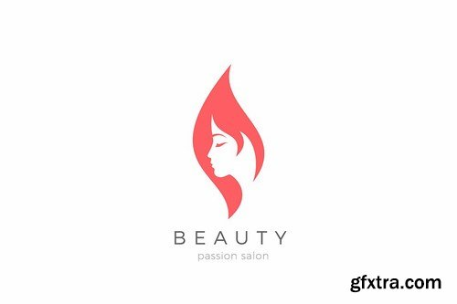 Woman Girl Logo Beauty Fashion Cosmetics