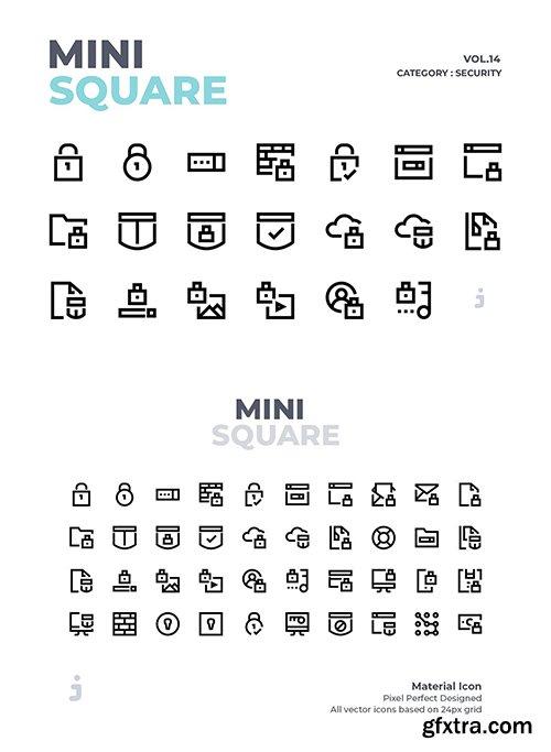 Mini square - 40 Security Icons