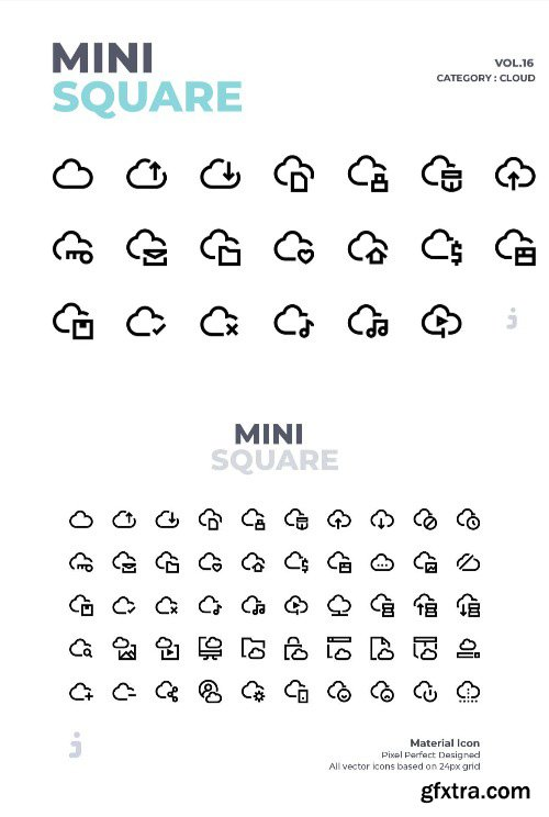 Mini square - 50 Cloud Icons