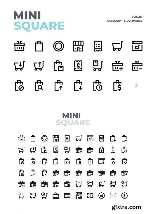 Mini square - 60 E-Commerce Icons