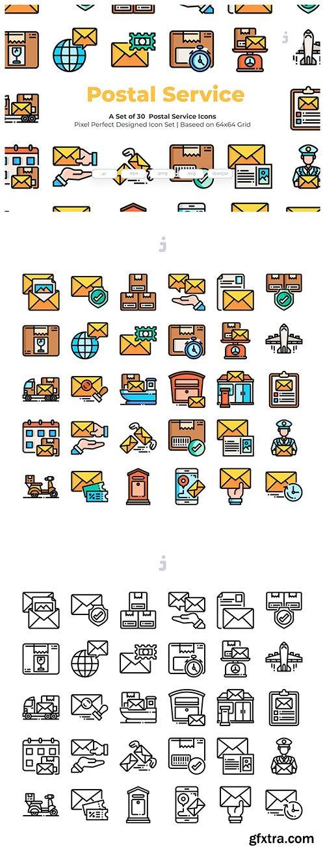 30 Postal Service Icons