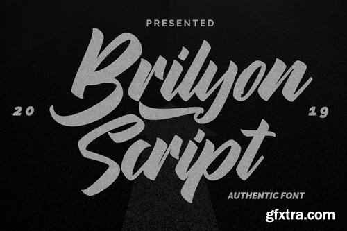 Brylion Script Unique Authentic Font