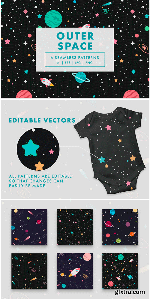 CM - Outer Space Seamless Patterns 3859488