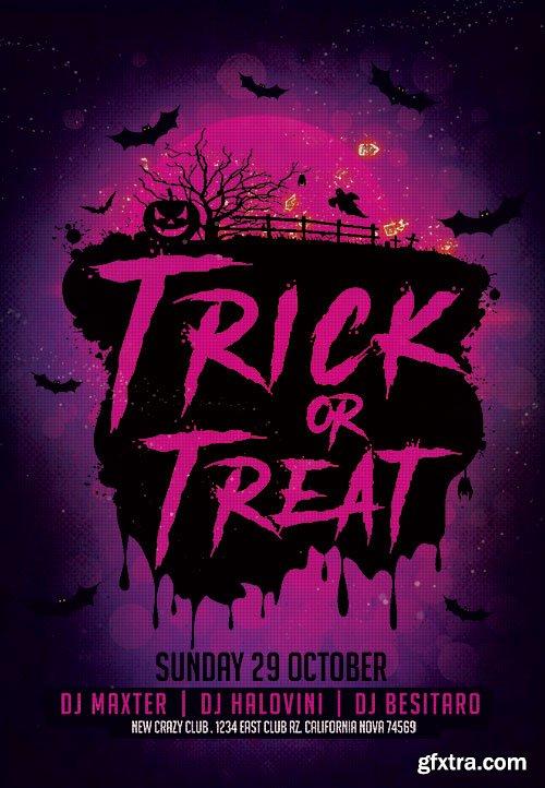 Trick or treat night - Premium flyer psd template