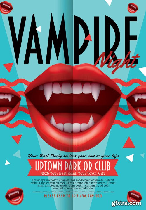 Vampire night - Premium flyer psd template