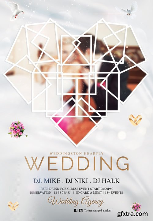 Wedding - Premium flyer psd template