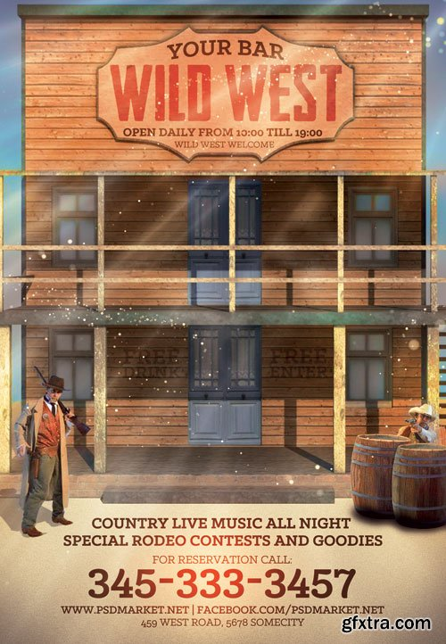 Wild west - Premium flyer psd template