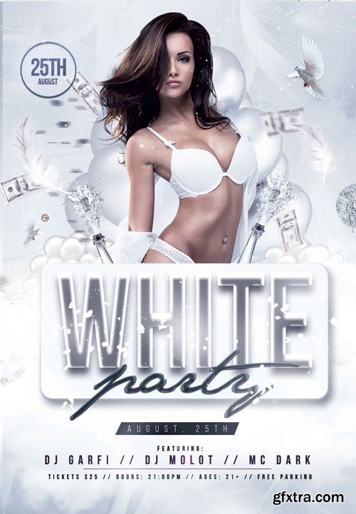White party event - Premium flyer psd template