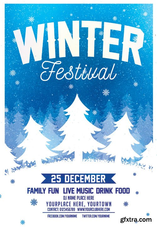 Winter festival - Premium flyer psd template
