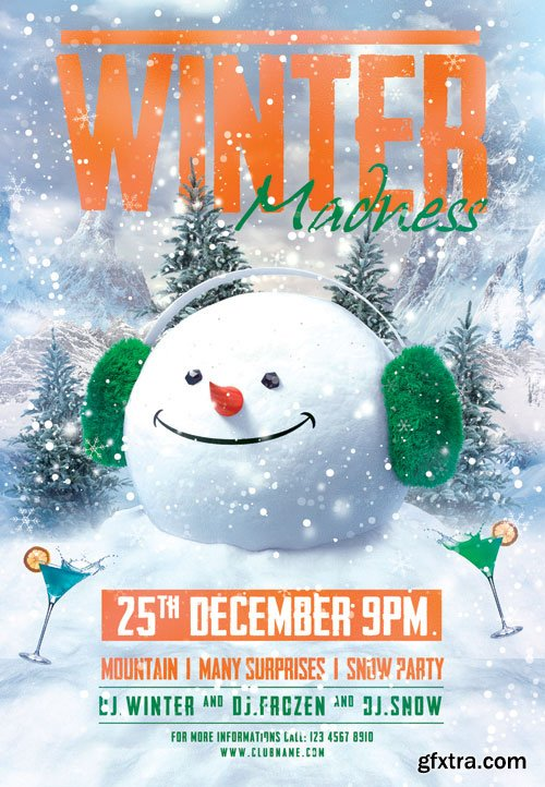 Winter madness - Premium flyer psd template