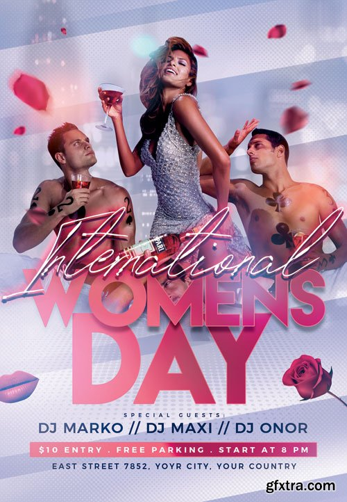 Womens day party - Premium flyer psd template