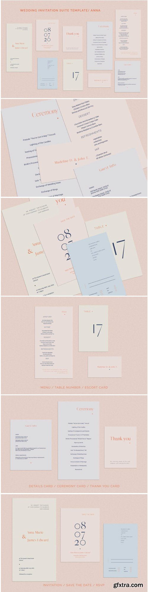 Anna Wedding Invitation Suite 1771800