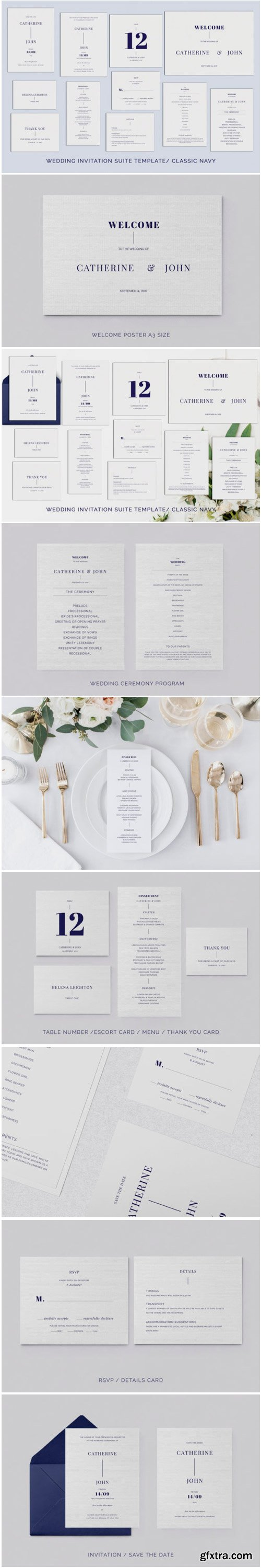 Navy Wedding Template Suite 1771768