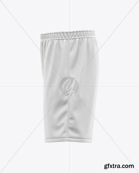 Men\'s Soccer Shorts Mockup - Side View 48803