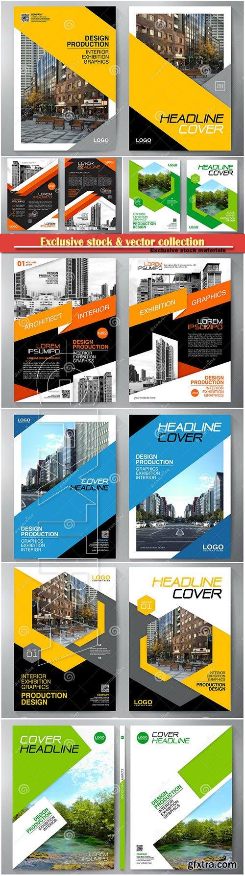 Business brochure, flyer design, leaflets a4 template, cover book