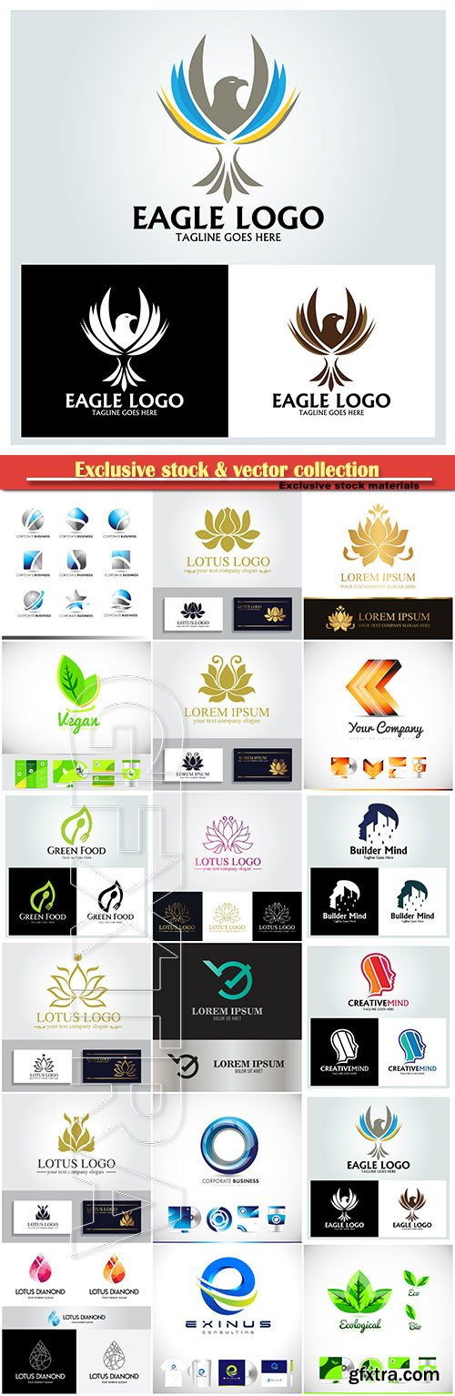 Logo vector template business set # 82