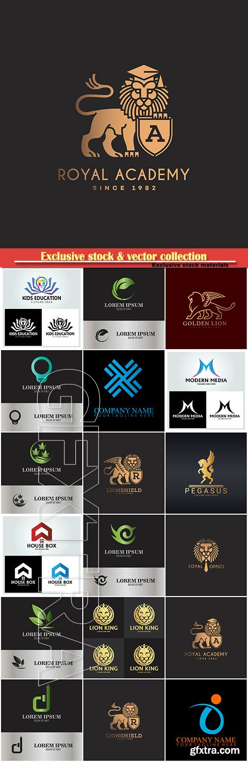 Logo vector template business set # 83