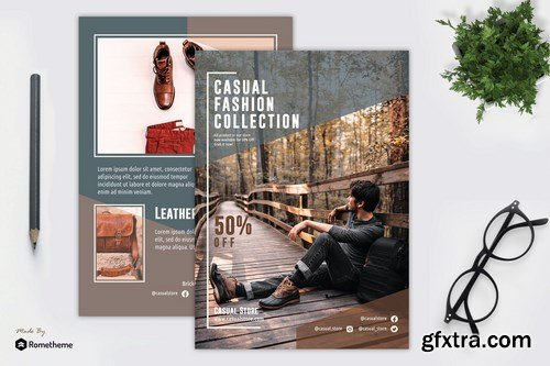 Casual Fashion - Flyer Template