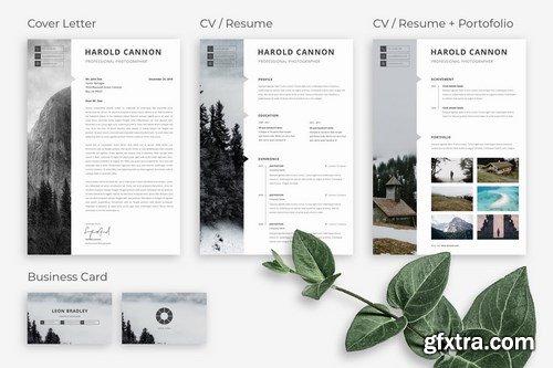 Monome - Professional Photographer Resume CV Set