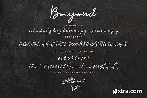 Boujond Signature Monoline Font