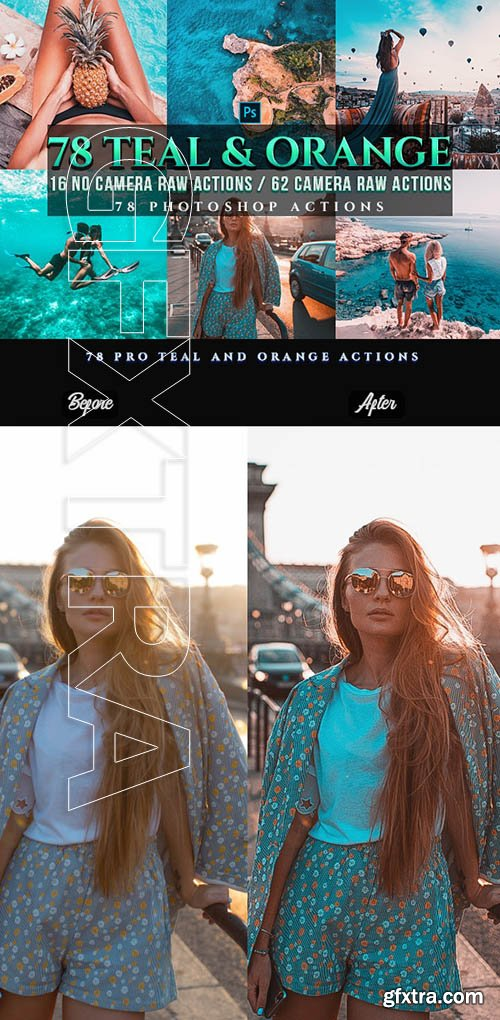 GraphicRiver - 72 PRO Orange & Teal Photoshop Actions 24495729
