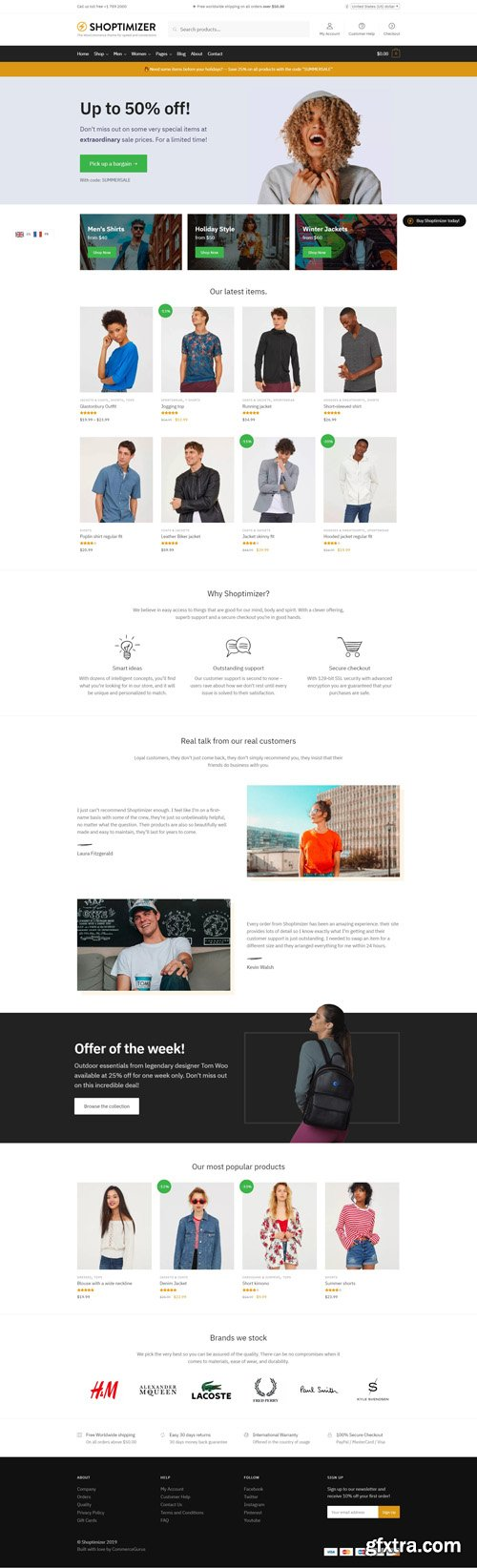 Shoptimizer v1.7.6 - Fastest WooCommerce WordPress Theme