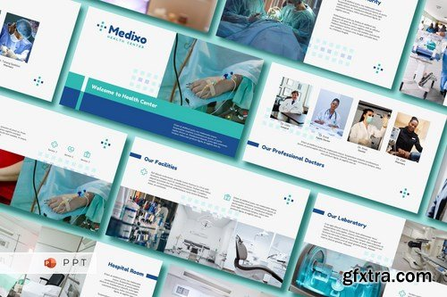 MEDIXO - Medical Powerpoint Google Slides and Keynote Templates