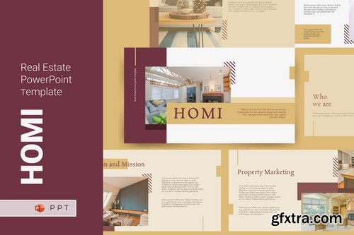 HOMI - Real Estate Powerpoint Google Slides and Keynote Templates