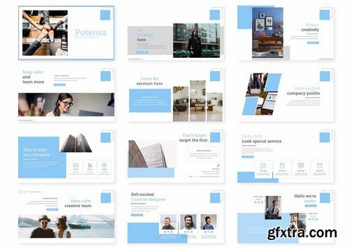 Potenza - Powerpoint Google Slides and Keynote Templates