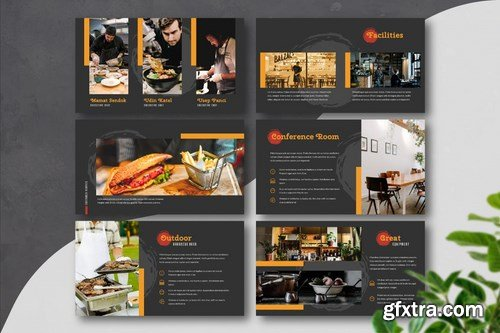 RESTAURANTE - Food and Beverages Powerpoint Google Slides and Keynote Templates